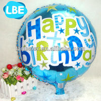 18 inch blue birthday foil helium balloon