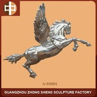 Stainless steel pegasus flying horse sculpture FOR outdoor decoration