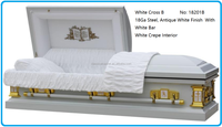 White Cross Funeral Casket For Sale