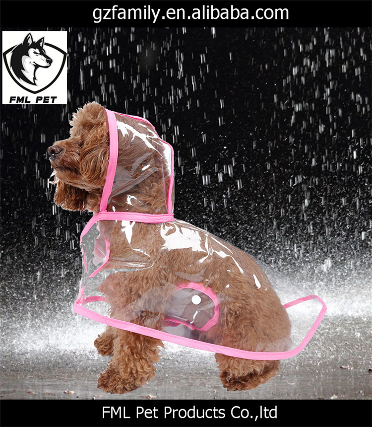Hot Sale High Quality Transparent PVC Dog Clothes Pet Accessory Dog Raincoat