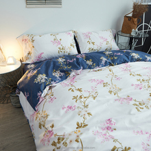 100% polyester Nordic flowers style printing comforter sets/bed sheet/duvet cover