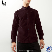 shirts wholesaler in mumbai burgundy cord long sleeve men shirts