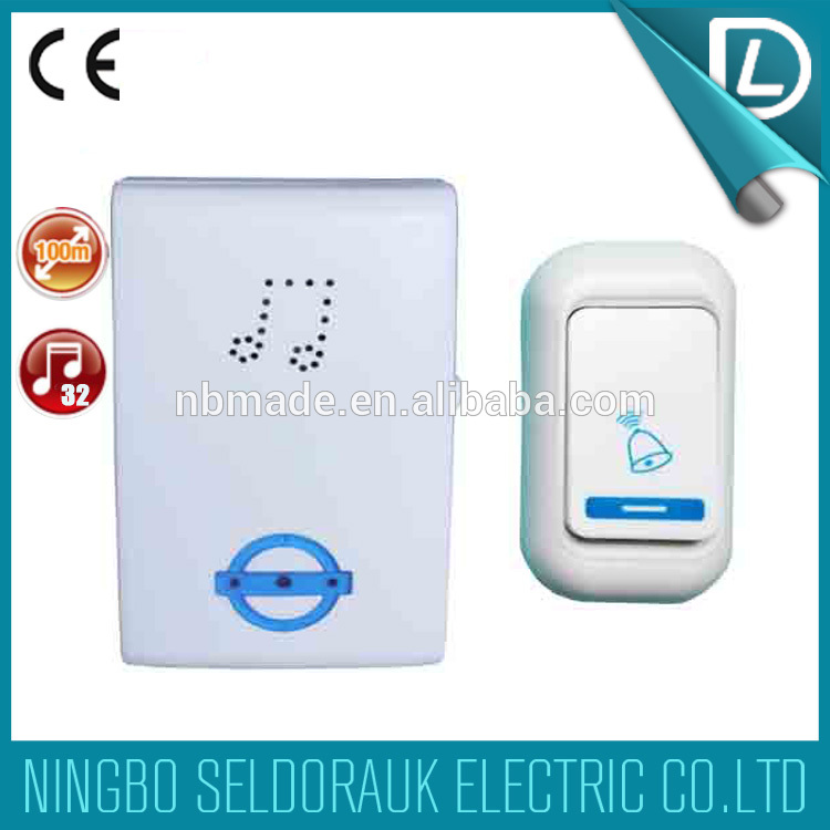Full stock battery type remote control novelty doorbell