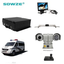 Mobile AHD 720P MDVR DVR Kit Security System with 1.3MP Car PTZ Camera