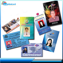 Plastic pvc facebook / school student photo / employee id card with barcode or QR code