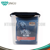 Clear PP plastic bulk food bin dog food storage container