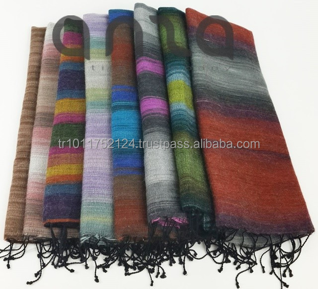 60x190cm Wool Cotton Blended Turkish Scarf Blanket Throw