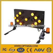 Reliable foldable Traffic control truck mounted LED arrow boards