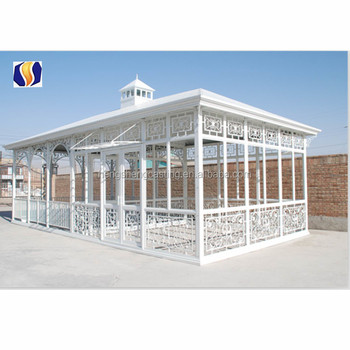 Classcial greenhouse with tempered glass victorian style