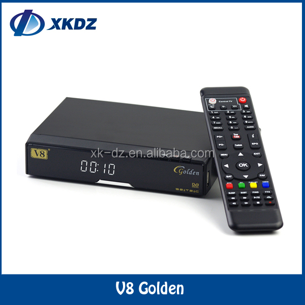 2016 Factory Supply Full HD V8 Golden Satellite Receiver V8 Golden open box s18 set top box