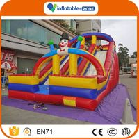 Factory price inflatable wave slide inflatable castle bouncy with inflated slide