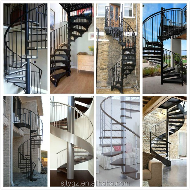 2016 Modern interior spiral staircase from Alibaba China supplier