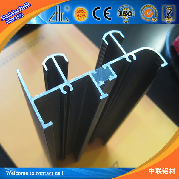6063-t5/t6 aluminium sliding channel / OEM frameless glass aluminium profile / aluminium windows and door foshan factory