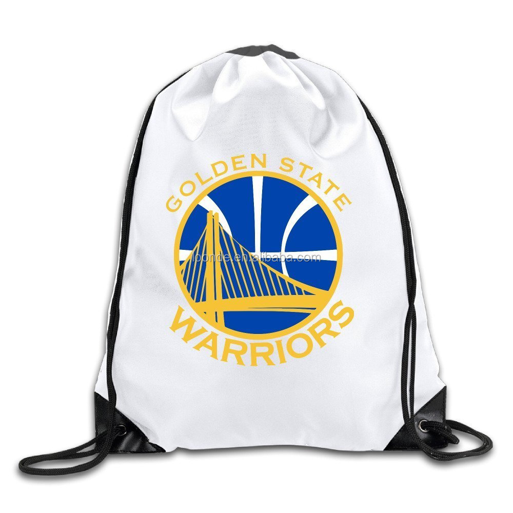 Custom durable polyster drawstring school bags for college students