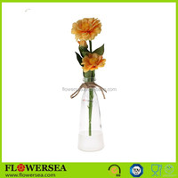 best selling items glass vases wholesale cheap with artificial flower