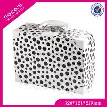 TOP Selling high standard white color with black dots cosmetic box packaging