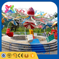 Amusement parl games thrill double flying family twister carnival ride attractions