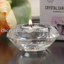 Round Crystal Tealight Candle Holder, tealight candlestick