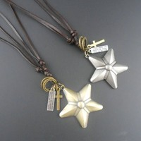 Fashion leather necklace new model jewellery NSNK-20649