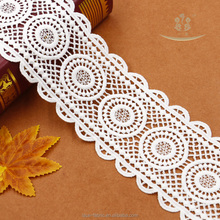 free sample guipure lace trimming High Embroidered Density Tulle Lace Trim 8.8cm width