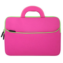 factory price 15inch laptop sleeve with carrying and accessory pocket fit for 15inch laptop