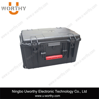 Hard ABS Material Plastic Equipment Carrying Handle Case Storage Packaging Box / Plastic Case with Wheels
