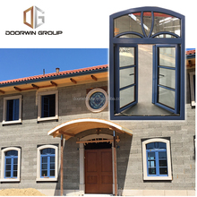 casement window grille design with fixed transom and CE certificate