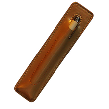 simple style 1 slot leather pen carrying case