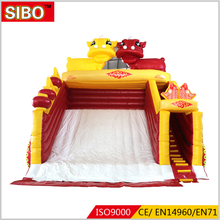 2018 hot sale giant Chinese red indoor or outdoor inflatable water park slides