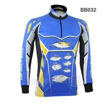100% polyester sublimation printing coolmax long sleeve quick dry fishing shirts