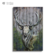 Customizable wood art work metallic wall art deer antler home decor 3d metal painting