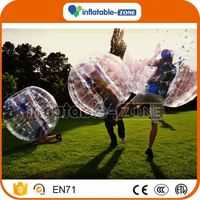 Bottom price cheap slae bubble football/soccer cheap inflatable bubby zorb knocker ball