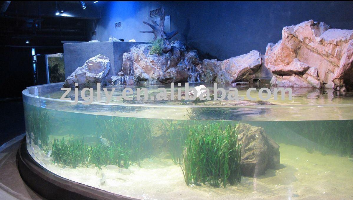 Aquarium d 39 eau douce feuilles en plastiques id de produit for Eau douce aquarium