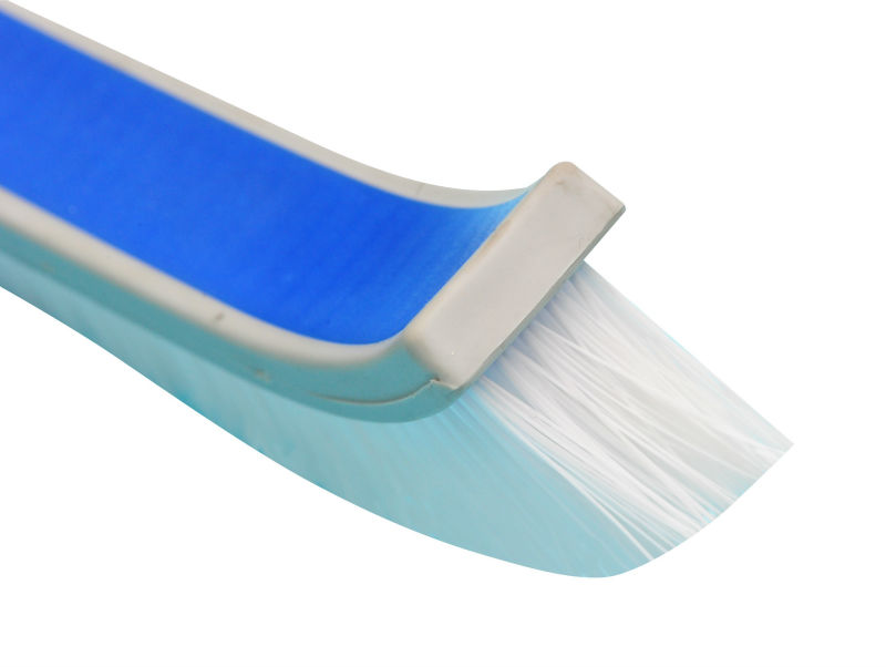 "New design 18"" curved plastic wall brush with soft bumper"