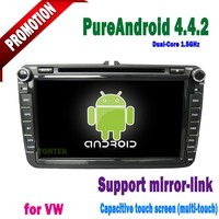 "8"" Pure Android 4.4 Capacitive Screen A9 Chip Dual core For vw transporter t5 car dvd cd player"