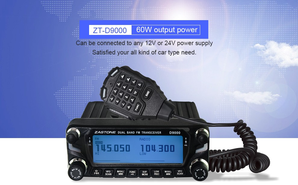 2016 new launch DUAL BAND TRANSCEIVER ZASTONE D9000 dual band mobile radio transceiver
