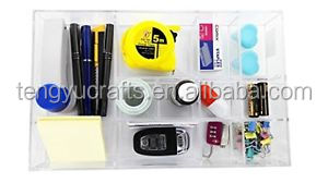 Custom Choice Fun Acrylic Desk Organizer Stationary Tray with 12 Sections