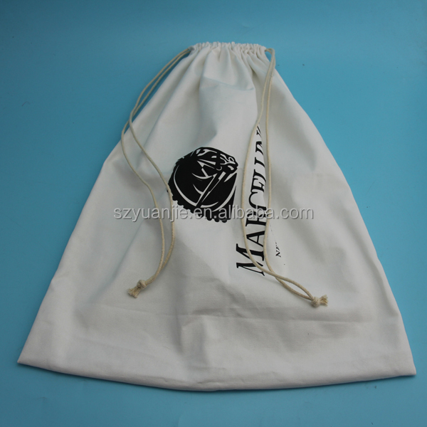 manufacture organic cotton drawstring dustbag for handbag