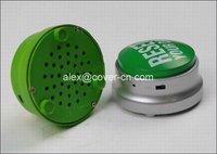 2012 funny custom sound button for gift with USB and LED in gifts and cratfs