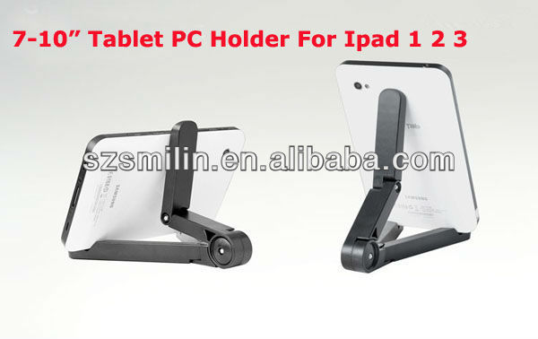 "2013 Newest ABS Portable Stand Holder for 7-10"" Tablet PC Mini Table Mount for Ipad Delicate Bracket for MID GPS LCD MP4 Best"