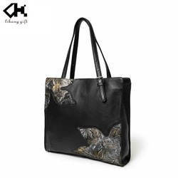 Wholesale Black Elegant Ladies Tote Bag