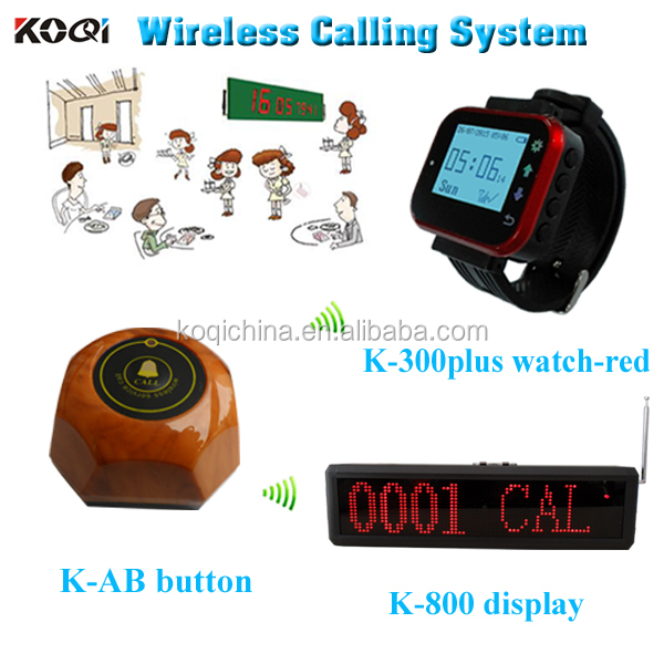 catering equipment waiter digital watches dispaly receiver and service button fast food restaurant equipment