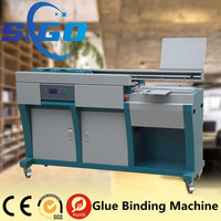 Automatic stand perfect spine glue and side glue book binding machine