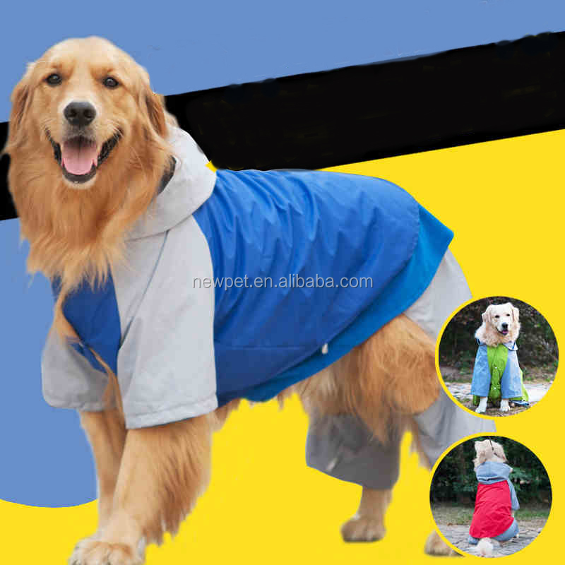 winter thicken outdoor mountaineering raincoats for large dog