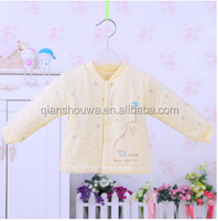 100% washable cotton Breasted warm quilted baby jackets baby clothes china