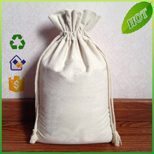 Recyclable custom design printed small shopping canvas cotton drawstring bag
