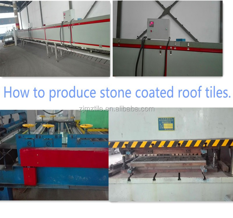 Light Weight But Strong Factory Stone Coated Metal Roofing