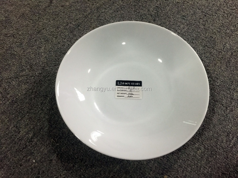 ZY-11 Ceramic plate hot sale Porcelain round plate for daily use