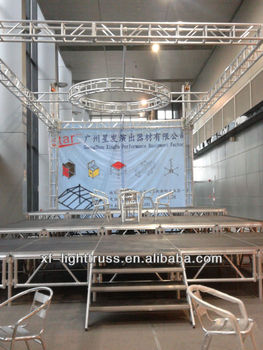 2014 popular exhibition show plywood stage and truss