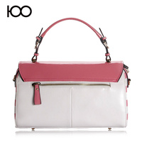 wholesale newest pictures lady fashion handbag hardware genuine leather bag